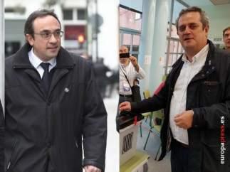 Montaje de los exconsellers de la Generalitat Josep Rull y Joaquim Forn.