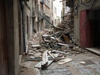 Derrumbe de una casa en Tarragona