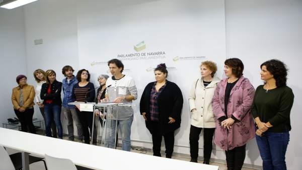 Representantes de la Plataforma de Entidades Sociales y parlamentarios