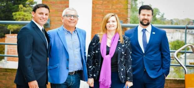 Quintana con participantes del Congreso argentino de salvamento acuático