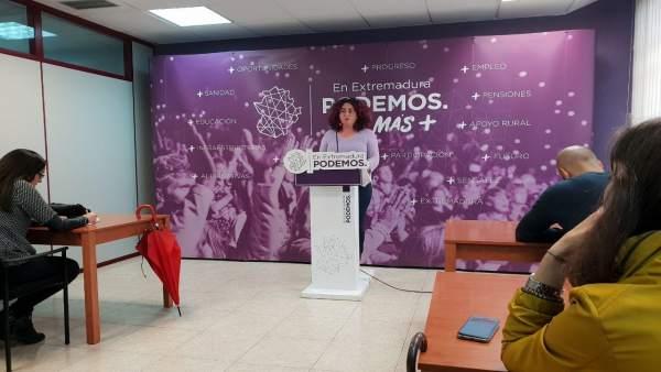 Portavoz de Podemos, Clara Sayabera