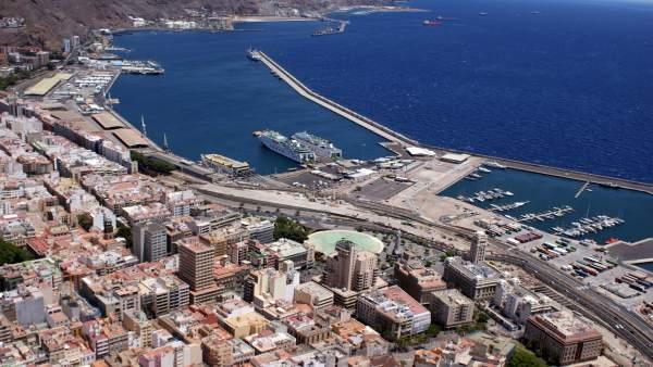 Vista aérea de Santa Cruz de Tenerife