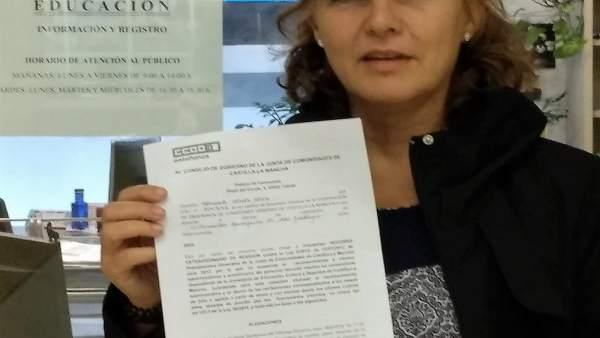 La secretaria de la Federación de Enseñanza de CCOO C-LM, Mercedes Gómez
