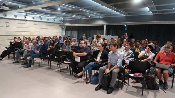Los directores de centros educativos de Mallorca, en la reunión con el conseller