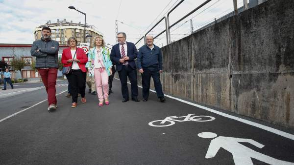 Inauguración del carril bici Maliaño-ría de Boo