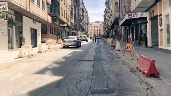 Obras en la calle Doctor Eduardo Arroyo