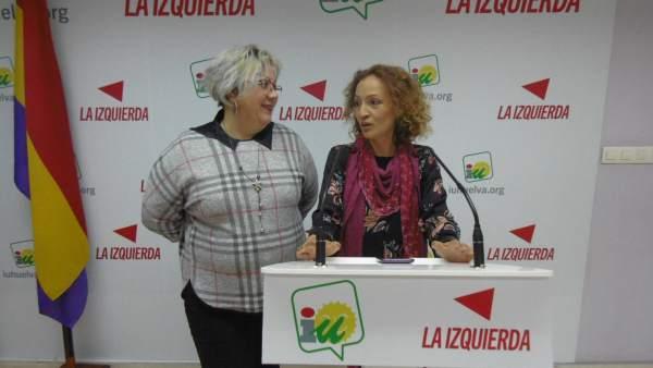 Mónica Rossi, junto a Silvia Zambrano.