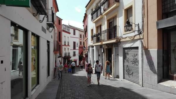 Una calle del casco histórico de Córdoba
