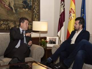 El secretario del PSOE de Castilla y León, Luis Tudanca, y Page