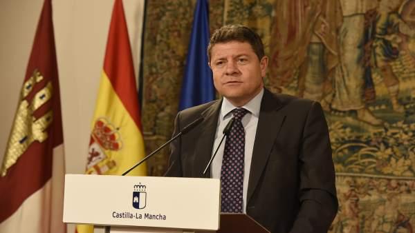 García-Page en rueda de prensa