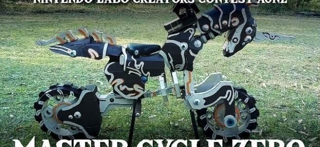 Nintendo Labo: Réplica a tamaño real de la moto Master Ciclye Zero de 'The Legend of Zelda'