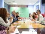 Reunión Junta con trabajadores residencia tiempo libre de La Línea