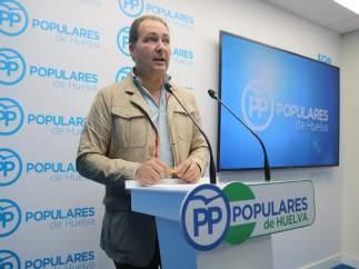 El seccretario general del PP de Huelva, David Toscano.