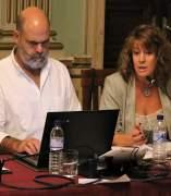Pilar Miranda, en un pleno del Ayuntamiento de Huelva.