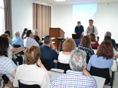 Charla a laicos en la Diócesis de Huelva.