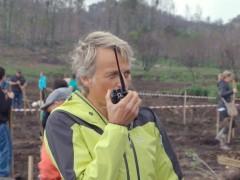 Jesús Calleja en el programa 'Volando voy' dedicado a los incendios de Galicia del año pasado.
