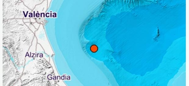 Un terremoto de magnitud 4 en el Golfo de Valencia se siente en una decena de poblaciones