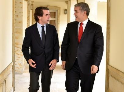 Iván Duque y José María Aznar