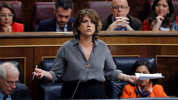 Dolores Delgado, en la sesión de control al Gobierno