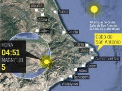 Localizador del terremoto en el Golfo de Valencia