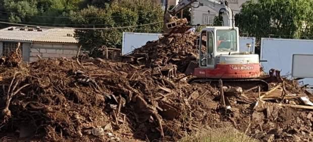 Retiran 4.044 toneladas de residuos de la zona afectada por las inundaciones en el Llevant de ...