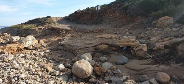 Los refugios del Parque Natural de la Península de Llevant, cerrados por las inundaciones en ...