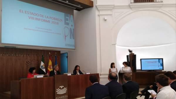 Acto del Día para la Erradicación de la Pobreza en la Asamblea de Extremadura