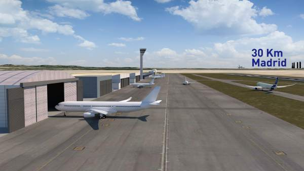 Infografía de la pista del proyecto de nuevo aeropuerto