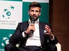 Gerard Piqué, en la presentación de la nueva Copa Davis.