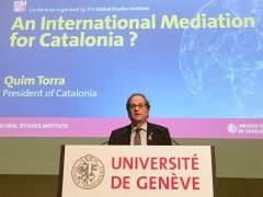 """Torra pide desde Suiza una """"mediación internacional"""" para dar una salida a Cataluña"""