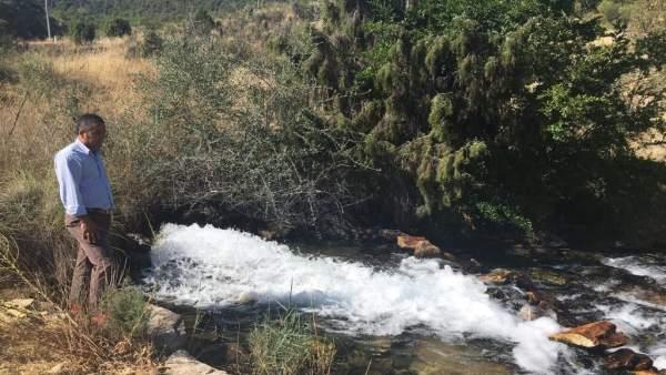 Jesús Cano, en un pozo de sequía. Pozos de sequía