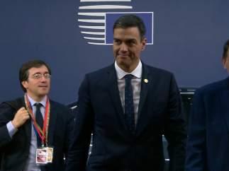 Sánchez llega a Bruselas para hablar sobre Brexit, Presupuestos y migración