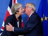 May y Juncker, antes de la reunión sobre el Brexit