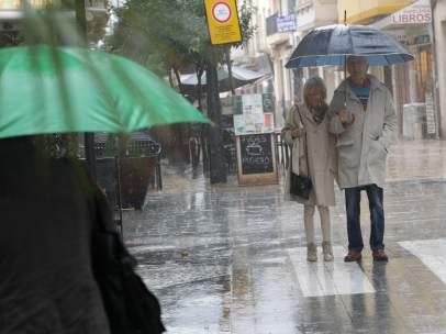 Lluvia en Gandía