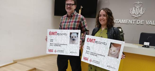 Las mascotas podrán viajar en los buses de la EMT de València