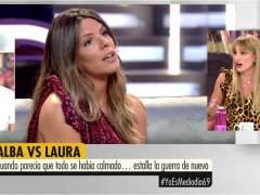 Alba Carrillo, de lo más soez, durante una pelea en directo