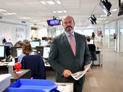 Pedro Rollán, vicepresidente de la Comunidad de Madrid, en la redacción de 20MINUTOS.