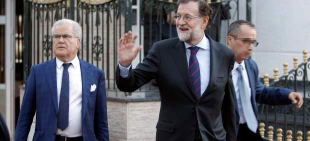 La última comida de Rajoy como registrador en Santa Pola