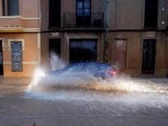 Temporal de lluvia en Valencia