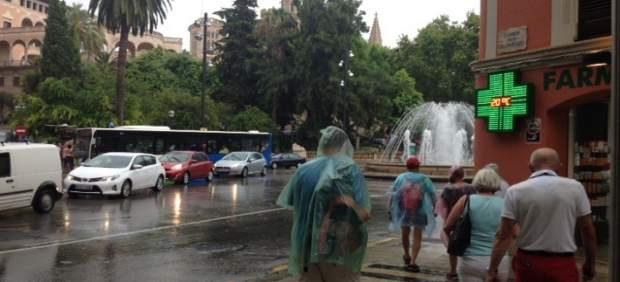 Las lluvias dejan 34 incidentes hasta esta mañana, la mayoría en Mallorca