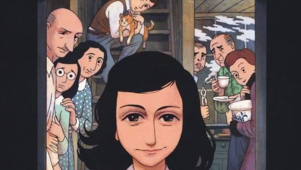 Portada de la novela gráfica 'El diario de Anne Frank'
