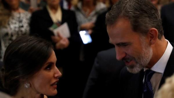 El rey Felipe y la Reina Letizia tras el XXVII concierto Premio Princesa de Asturias