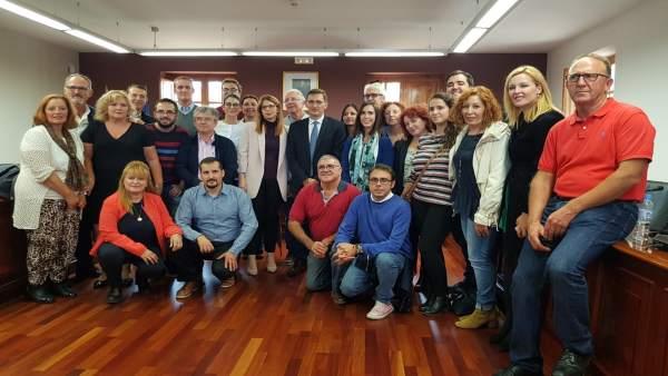 La edil Ángeles Castillo tras ser proclamada alcaldesa de Huércal