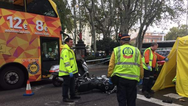 Accidente paseo del prado