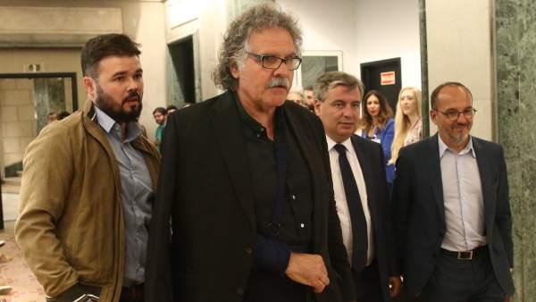 Rufián, Tardà, Xuclà y Campuzano