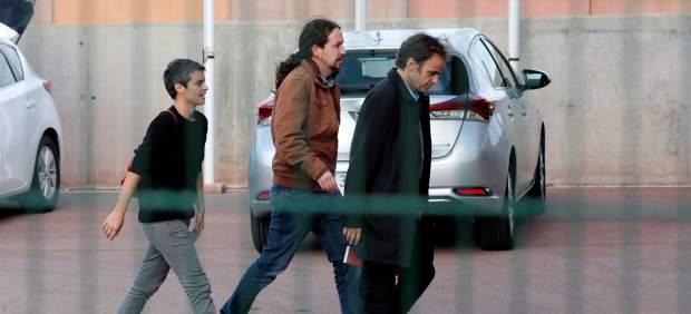 Pablo Iglesias ya está en la cárcel para ver a Junqueras: una visita sin cristal ni límite de ...