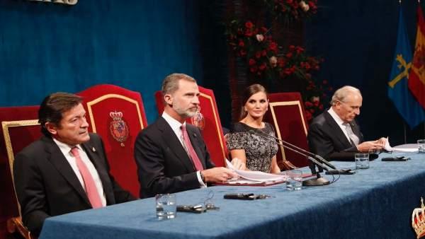 El presidente del Principado, los Reyes y el presidente de la Fundación