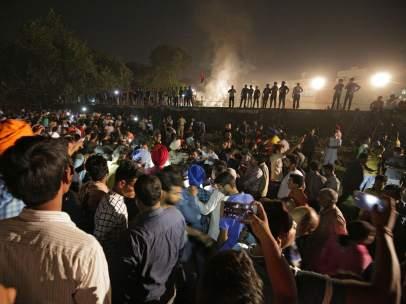 Atropello de tren en la India