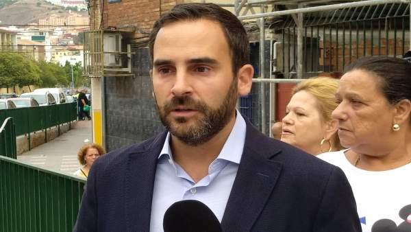 Daniel Pérez, el portavoz del PSOE en el Ayuntameinto de Málaga