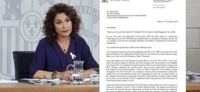 Carta del Gobierno a Bruselas
